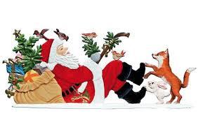 wilhelm schweizer german pewter ornaments tagged santa g