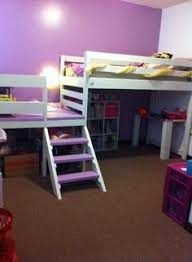 Building Plans For Loft Bed With Desk by Complete Plans For Building This Beautiful Loft Bed That Has Both