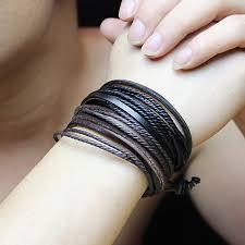 leather bracelet fashion images Fashion jewelry strand bracelets bangles leather bracelet jpg