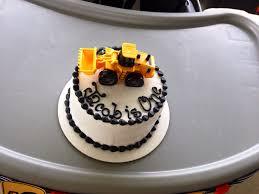 construction dump truck theme jacob u0027s first birthday smash cake