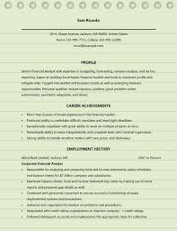 Financial Resume Example by Financial Analyst Resume Example Finance Resume Samples 23
