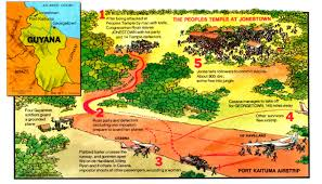 Guyana Map Jonestown Massacre Anniversary What Happened With Jim Jones In