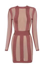 clothing bandage dresses u0027solada u0027 rose pink striped bandage