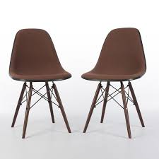 peach herman miller original eames upholstered side dsw chairs
