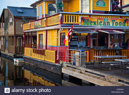 Fisherman S Wharf Floating Mexican Restaurant At Fishermans Wharf In Victoria B C