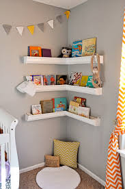 Corner Wall Shelves Rain Gutter Shelves Nursery Book Corner Lucy U0027s Room Pinterest