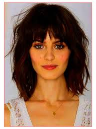 ideas short hairstyles for round faces with fringe best