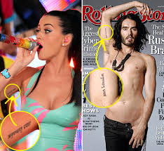 katy perry u0026 russell brand get matching tattoos as an early
