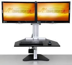 Electric Adjustable Height Desk by Adjustable Height Desk Ergo Desktop