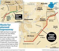 Map Of Sacramento Ca Sacramento County Expressway Effort Pushes Forward Despite Setback