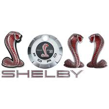 ford mustang emblem kit shelby gt500 red 2007 2009
