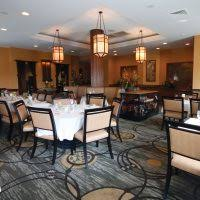 cool restaurant dining room ideas with light green leather sofa