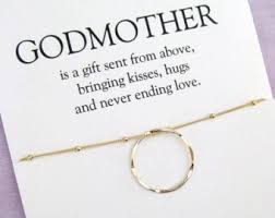 godmother necklace godmother gift godmother necklace baptism christening