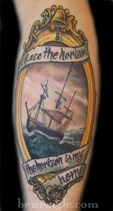 sea ship frame tattoo picture real photo pictures images and