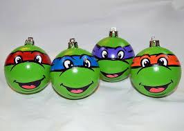 all balls turtles ornament set mutant
