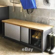 industrial storage bench storage bench steel wood industrial shoe organizer seat hallway new