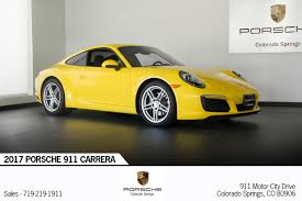 porsche 911 price 2017 porsche 911 carrera for sale in colorado springs co p2810