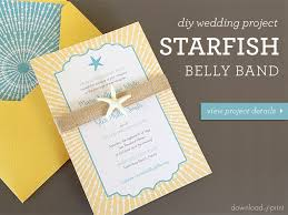 diy invitations diy wedding invitation with starfish belly band
