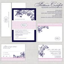 navy and blush wedding invitations navy fuchsia wedding invitations navy pink