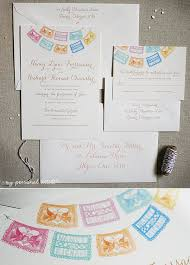 Personalized Wedding Invitations Personalized Papel Picado Custom Wedding Invitations Custom Save
