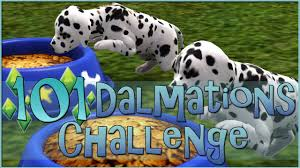 sims 3 101 dalmatians challenge house puppies