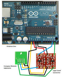 digital compass using i2c arduino and sparkfun compass module