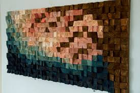 large wood wall 2017 colour trends geometric cherry