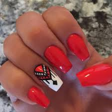 15 totally trendy tribal designs to rock on your nails red nail