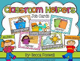 classroom helpers foxwell forest