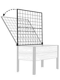 vegetable trellis space maker pivoting trellis 2x4 gardeners com