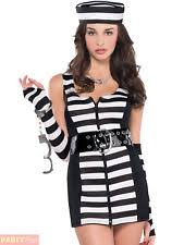 Womens Prisoner Halloween Costume Amscan Adults Guilty Charged Prisoner Costumes Size 10 12 1