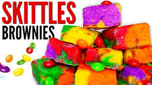 skittles brownies how to make rainbow candy skittles brownies