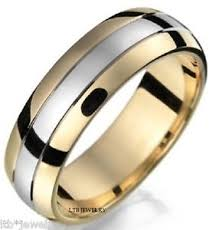 mens two tone wedding bands 10k two tone gold mens wedding band ring 7mm ebay