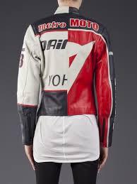 white motorcycle jacket yohji yamamoto motorcycle jacket in white lyst