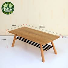 Long Coffee Table by Solid Wood Coffee Table Scandinavian Minimalist Japanese Style
