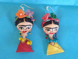 frida earrings frida corn husk doll earrings martina la productions