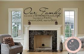 family wall decal our family wall quote wall decals by sizes 21 color chart our family