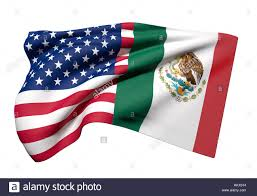 Flags Of America States 3d Rendering Of An United States Of America And Mexico Flag Waving