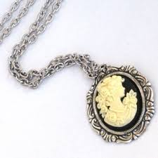 cameo antique necklace images Steampunk cameo necklace goddess beautiful vintage design jpg