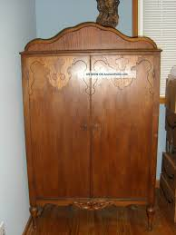 Painted Armoire Furniture Bedroom Chic Hand Painted Armoire Wardrobe For Home Furniture