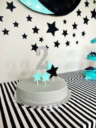 moon themed birthday b turns 2 themed