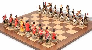 battle of hastings hand decorated theme chess set the chess store