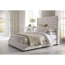 Pulaski Furniture All In 1 Cream King Upholstered Bed 1927 Br K2
