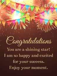 congratulations card you are a shining congratulations card birthday greeting