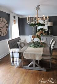 gray dining table with bench vf october colour of the month design inspiration wooden horse