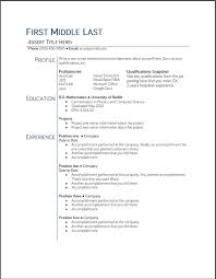 college student resume templates resume format for college students