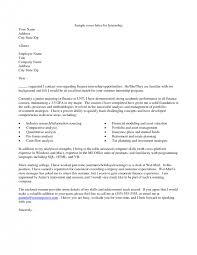 good cover letter for internship 5 tips on finance cover letter