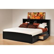 bedroom queen platform bed with storage and headboard inside i