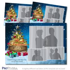 christmas on cloud 9 6x4 inch photo booth template layout
