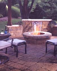 Stone Patio With Fire Pit Crescent Dc Stone Paver Patio With Fire Pit Northern Va Reston